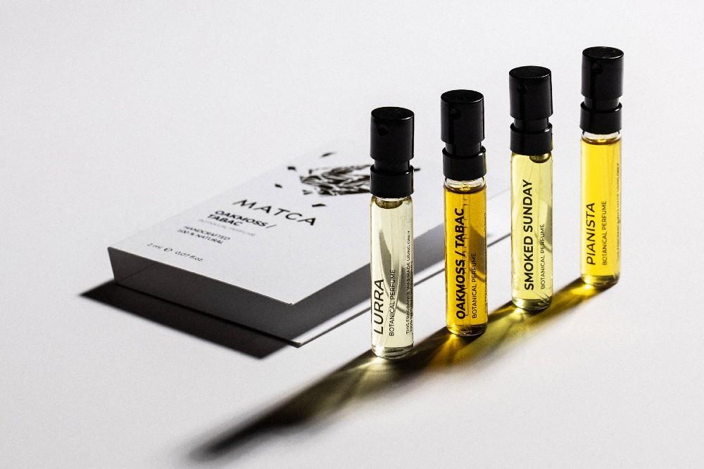 Mostre parfumuri naturale botanice MATCA