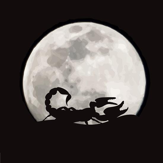luna plina in Scorpion