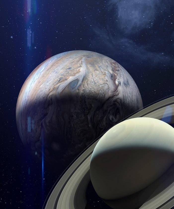 conjunctie Jupiter - Saturn