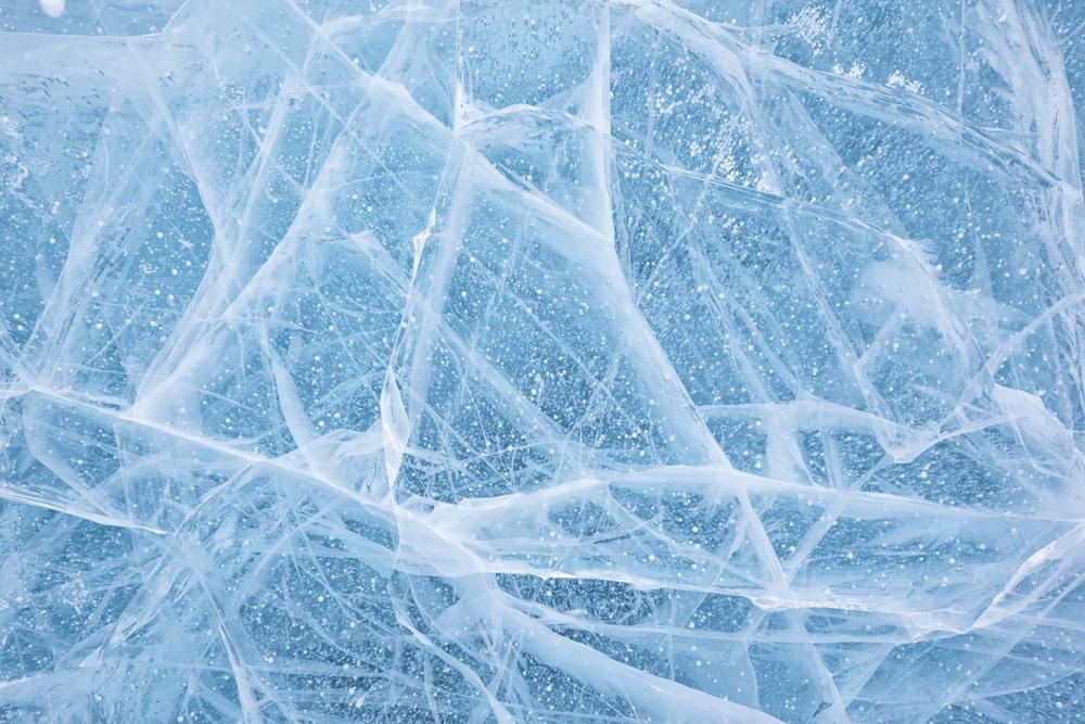 textura gheata lacul Baikal