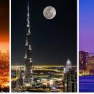 Luna Plina deasupra oraselor lumii: 16 Imagini de vis urban, care iti taie respiratia