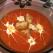 Supa crema de cartofi cu rosii si crutoane