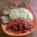 Piure de cartofi cu snitel din soia