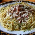 Spaghete cu sunca si cascaval