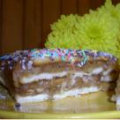 Tort de biscuiti cu gem de mere