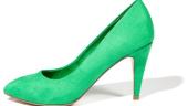 Pantofi intr-o nuanta de verde crud