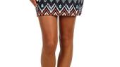 Fusta mini multicolora cu imprimeu etnic Billabong Nights Free Skirt