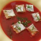 Supa crema cu sfecla, cartofi, mere