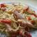 Spaghete cu branza topita
