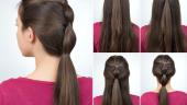Hairstyle coada de cal cu elastic