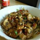 Paste de orez cu soia si ciuperci