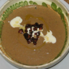 Supa crema de ciuperci de padure cu migdale