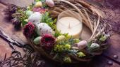 Coronita de Paste DIY cu oua si flori