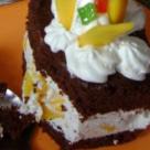 Desertul de duminica: Prajitura cu branza ricotta, frisca si mango