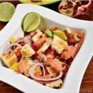 Salata de somon, avocado si rodie