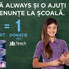 Always sustine accesul la educatie de calitate pentru copiii din zonele vulnerabile, impreuna cu Teach for Romania