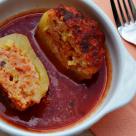 Dovlecel umplut cu legume in sos de rosii
