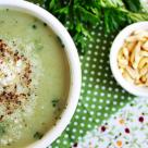 Supa-crema de broccoli cu leurda