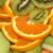 Muschi de porc cu portocale si kiwi