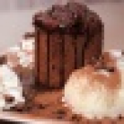 Brownies cu inghetata de vanile