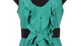 Bluza verde cu decolteu anchior