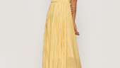 Rochie lunga galben pal
