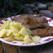 Pulpa de vitel in sos de tarhon