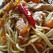 Spaghetti cu pui si ardei