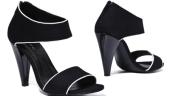 Sandale alb-negru