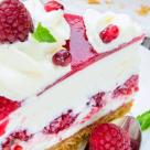 Desertul de duminica: Cheesecake cu zmeura si rodii