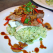 Carne de vita pe pat de morcov, ceapa si ciupercute ciufulite