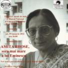 Amita Bhose, sora mai mare a lui Eminescu - Eveniment