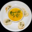 Supa de ceapa verde si sunca cu galuste de branza de oaie