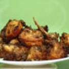 Pulpe de pui cu mere si ceapa
