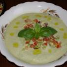 Supa rece de castravete cu avocado