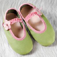 Pantofi Balerina verde cu talpa moale