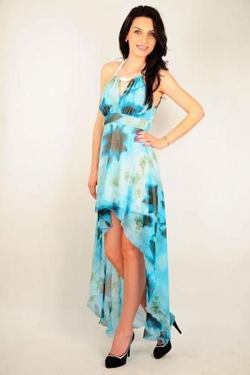Rochie de seara cu imprimeu floral