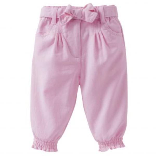 Pantalonasi din in roz pentru fetite