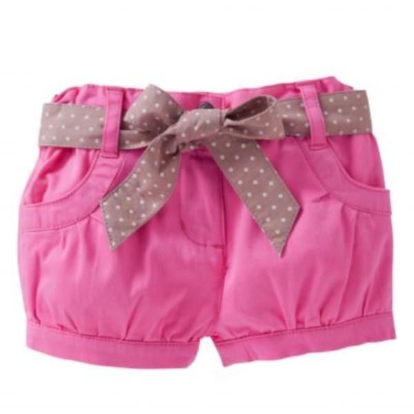 Pantaloni scurti roz bufanti pentru fetite
