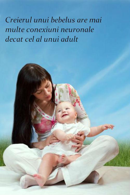 Creierul unui bebelus are mai multe conexiuni neuronale decat cel al unui adult