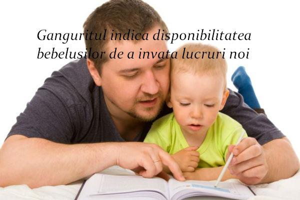 Ganguritul indica disponibilitatea bebelusilor de a invata