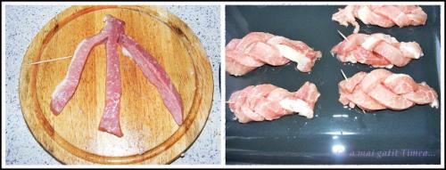 Friptura de porc impletita