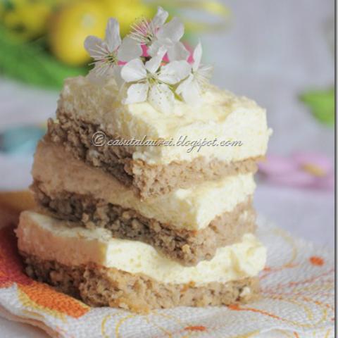 Tort dietetic cu crema de branza si lamaie