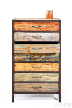 Cabinet Colorful Wood