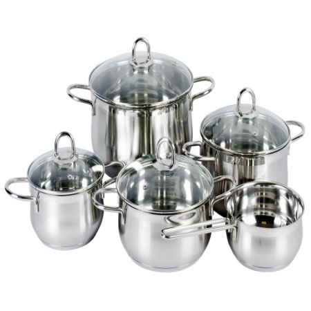 Set Platinum 5 vase de gatit