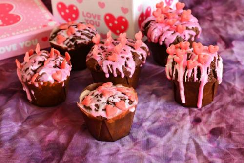 Cupcakes cu inimioare