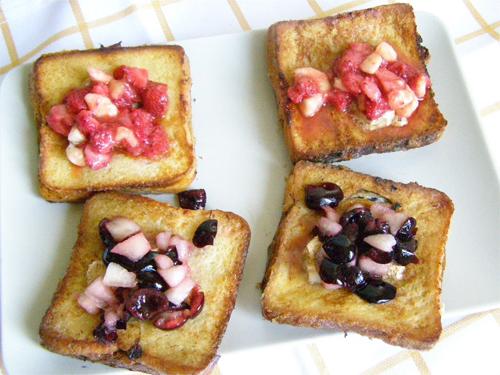 Toast frantuzesc cu fructe