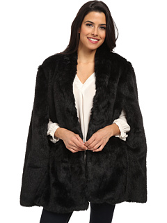 Plush Faux Fur Cape