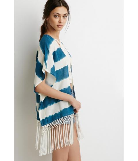 Fringed Stripe Poncho