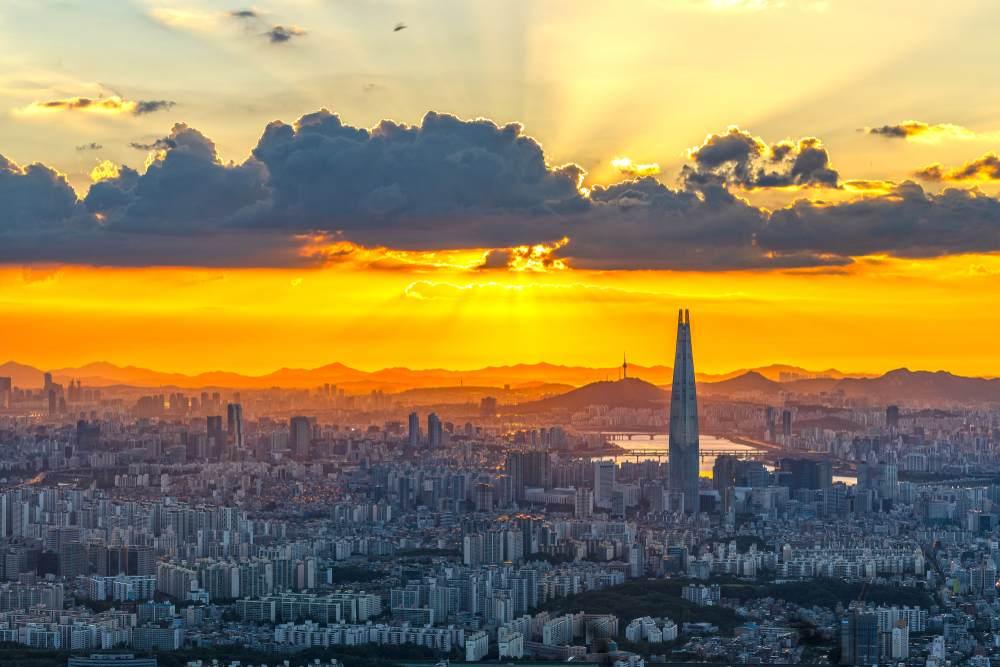 Apus in Seul, Coreea de Sud